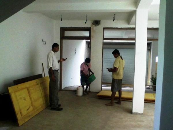 Location : Kirullapone, Colombo 06. Customer : Dr. Chandana De Silva Job :  Civil Works (Selected), Painting Work U0026 Door Windows